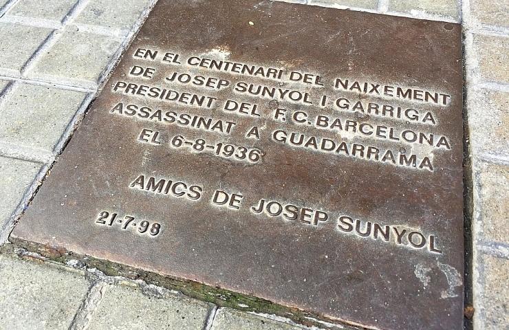 Placa a Josep Sunyol